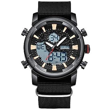 YHLU Reloj, Reloj de Cuarzo Impermeable para Hombres, Reloj táctico de Negocios de Ocio al Aire Libre,Black: Amazon.es: Deportes y aire libre