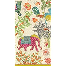 Caspari Entertaining 15-Pack Le Jardin De Mysore Guest Towels