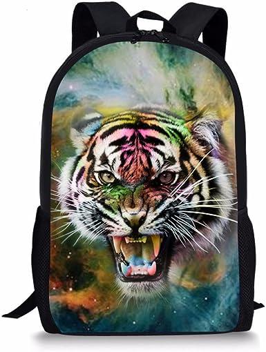 Big Cat ~ Kid Child Girl Backpack Travel Bag Adjustable Strap Waterproof Tiger