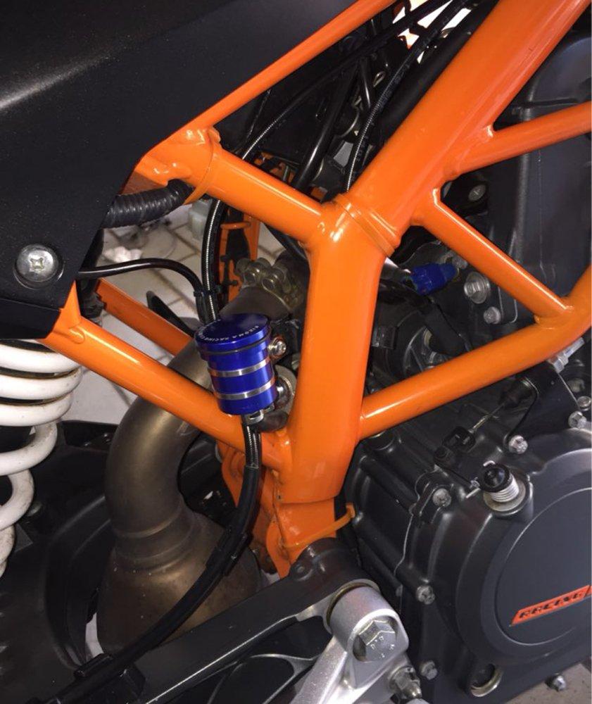 Motocicleta Universal Depósito de Líquido de Frenos Embrague Copa de Aceite para S1000R S1000RR S1000XR/ R1200GS LC ADV/ F800GS F700GS F650GS F800R(Negro): ...