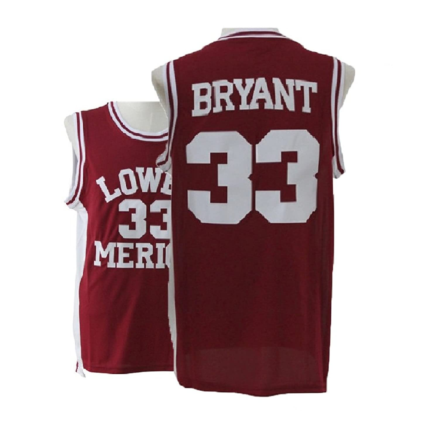 d98f9b119 Lothma Legend Kobe High School 33 Jerseys Red Retro Basketball Jersey Mens  Athletics Jerseys