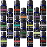 Radha Beauty Aromatherapy 18 Essential Oils (Lavender, Tea Tree, Peppermint, Lemongrass, Orange, Eucalyptus, Rosemary, Frankincense, Lemon, Bergamot, Cedarwood, Patchouli, Geranium, and more)