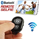 AccessoryBasics Bluetooth Wireless Camera Shutter Release Remote Control for iPhone 7 6S Plus iPad Pro/Air/Mini Samsung Galaxy S8 S7 Edge Smartphone & Tablets (Free Jello Case & Wrist Lanyard)