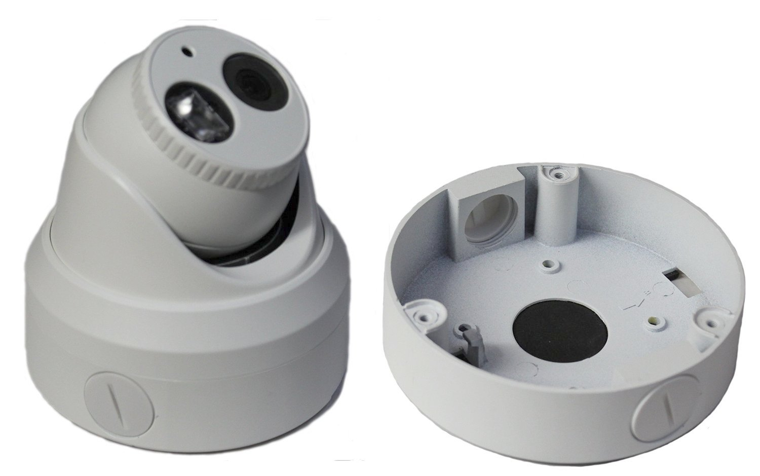 Kenuco White Junction Box/Mounting Base For Hikvision Turret Camera DS-2CD23x2