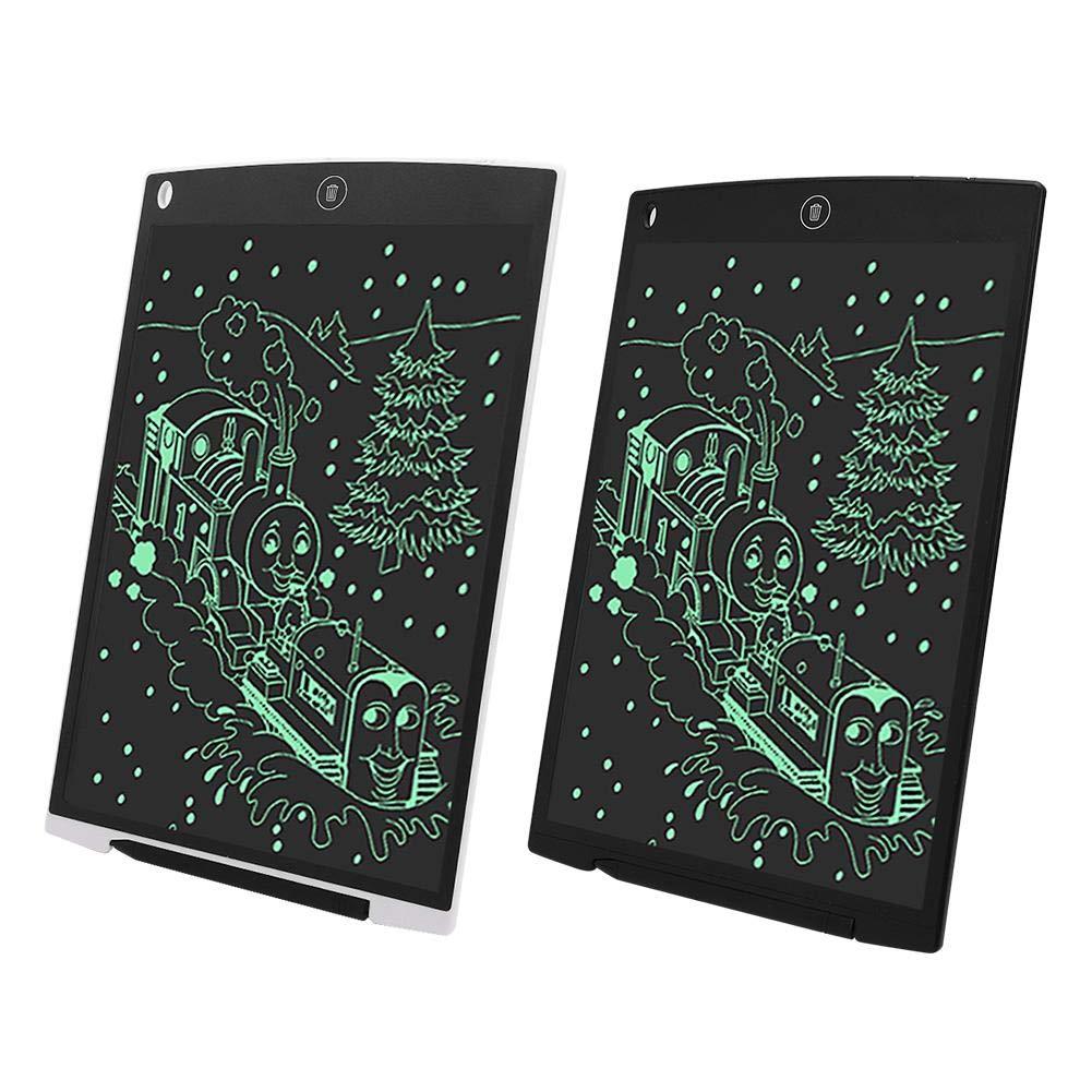Hztyyier 12 Pollici LCD Scrittura Disegno Tavoletta Lavagna per Ufficio Bacheca Promemoria Avviso Frigo Lavagna giornaliera Fai da Te Pianificatore Regali per Bambini 黑色