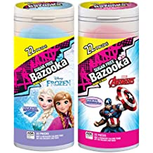 Bazooka Disney Frozen and Marvel Avengers Sugar Free Bubble Gum, 22 Count (Pack of 8)