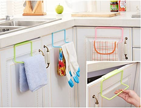 Towel Rack Hanging Holder Organizer Bathroom Kitchen Cabinet Cupboard Hanger RU