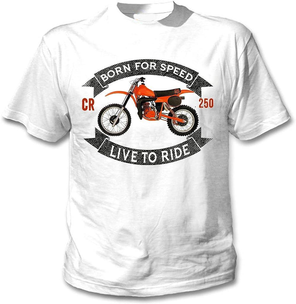 TEESANDENGINES Honda CR 250R Camiseta Blanca para Hombre de ...