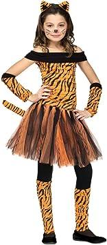 Horror-Shop Disfraz de tigre señorita S: Amazon.es: Juguetes y juegos