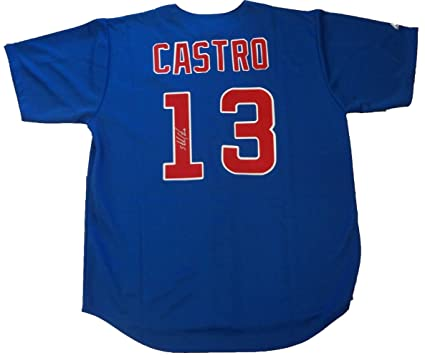 wholesale dealer b9157 a89ea Starlin Castro Autographed Chicago Cubs Jersey W/PROOF ...