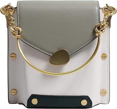 Bolso de hombro para mujer, bolso bandolera de cuero caja de