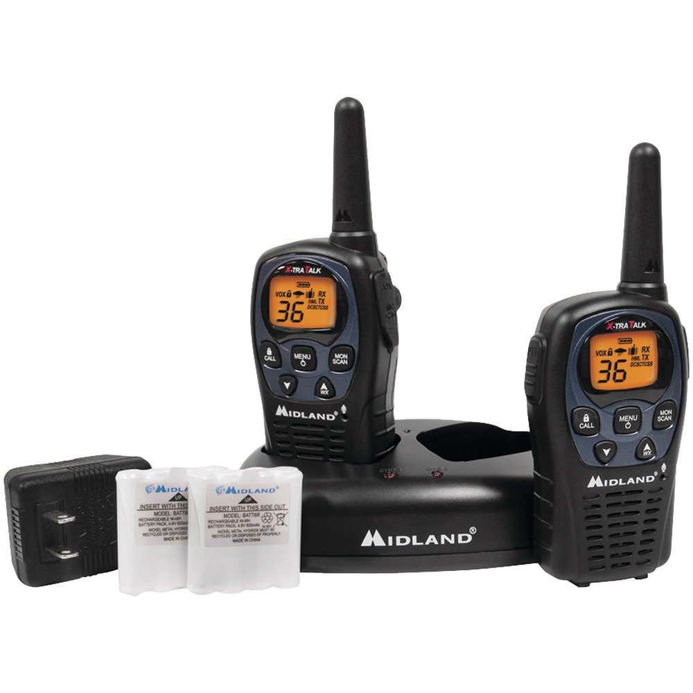 MIDLAND LXT560VP3 26-Mile GMRS Radio Pair Pack with Drop-in Charger & Rechargeable Batteries electronic consumer