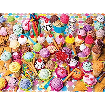 Variety of Colorful Ice Cream Yummy Collection 300 Piece Jigsaw Puzzle: Toys & Games