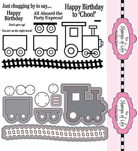 The Stamps of Life Clear Stamps & Dies, train2stamp & Train Die Set