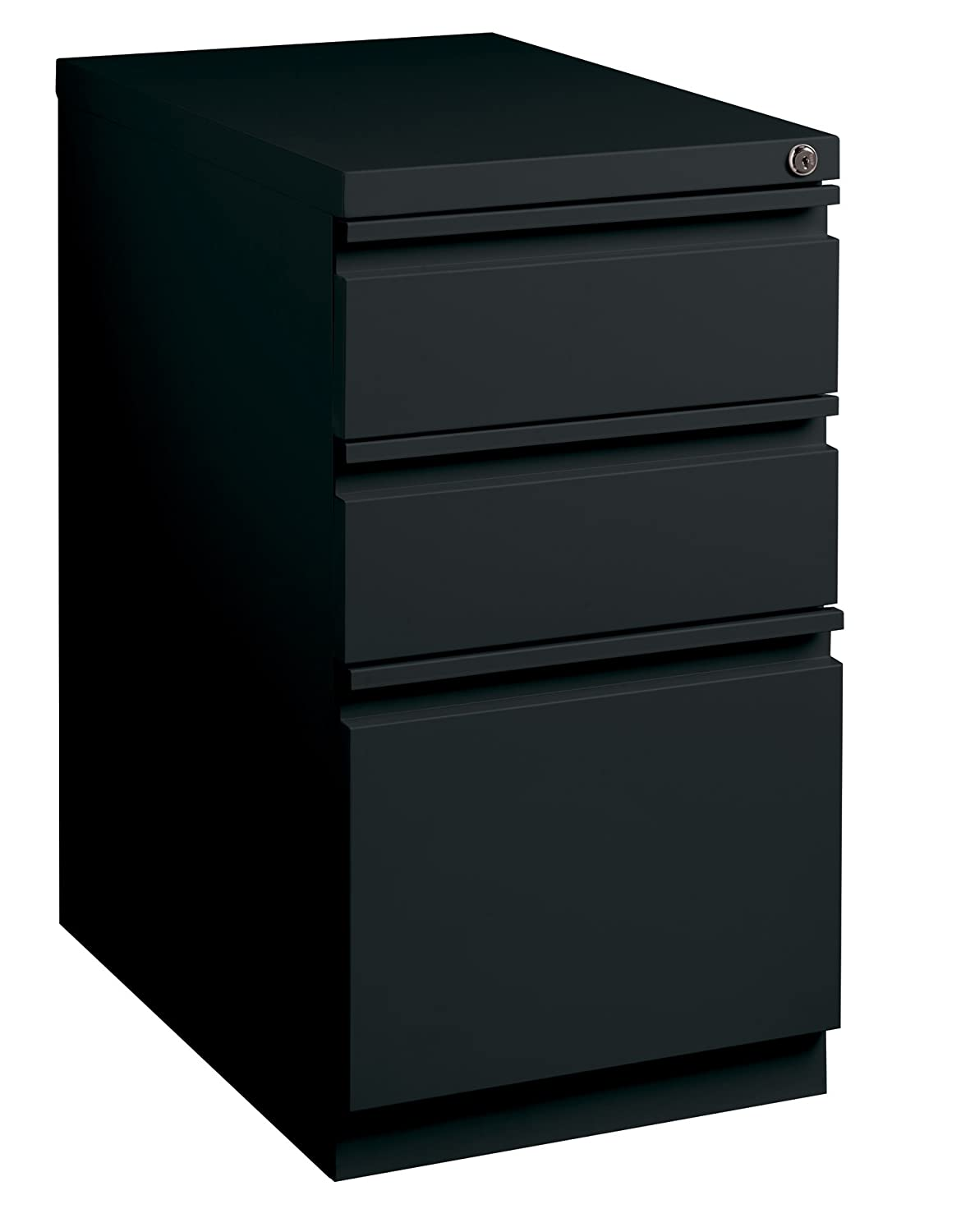 Putty 20-inch Deep Mobile Pedestal 3-Drawer Box//Box//File Full Width Pull