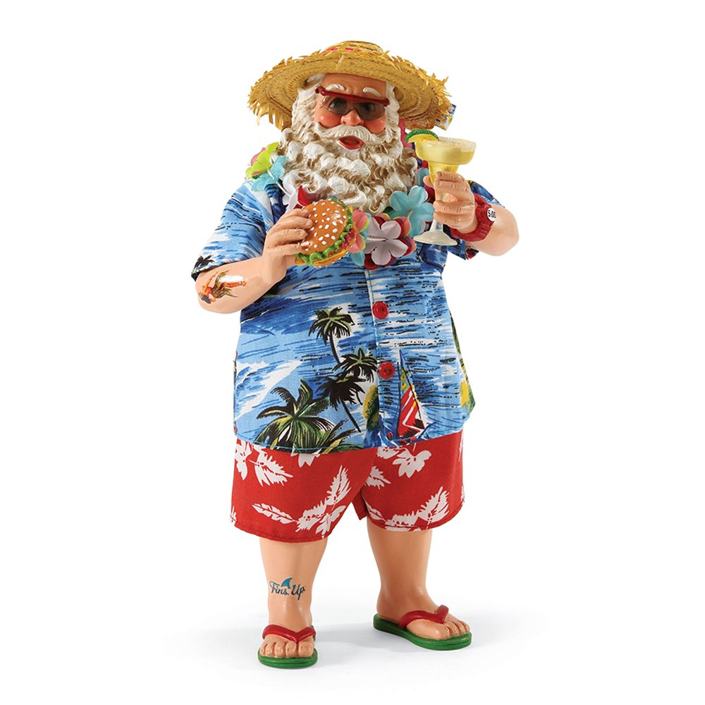 "Department 56 Possible Dreams Santa Claus ""In Paradise"" Clothtique Figurine, 10''"