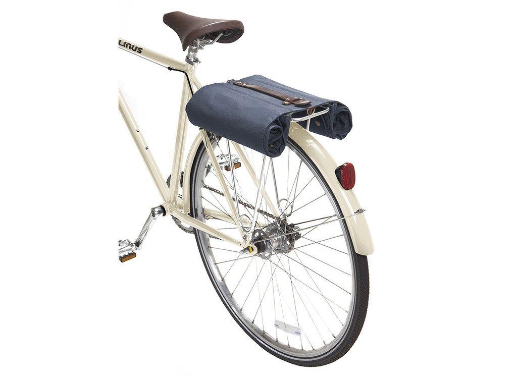 Linus Bike Market Roll-Up Pannier Bag - Navy by Linus (Image #3)