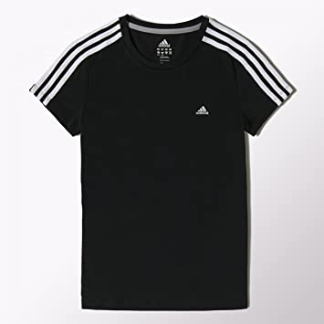 adidas 3 stripe essentials t shirt