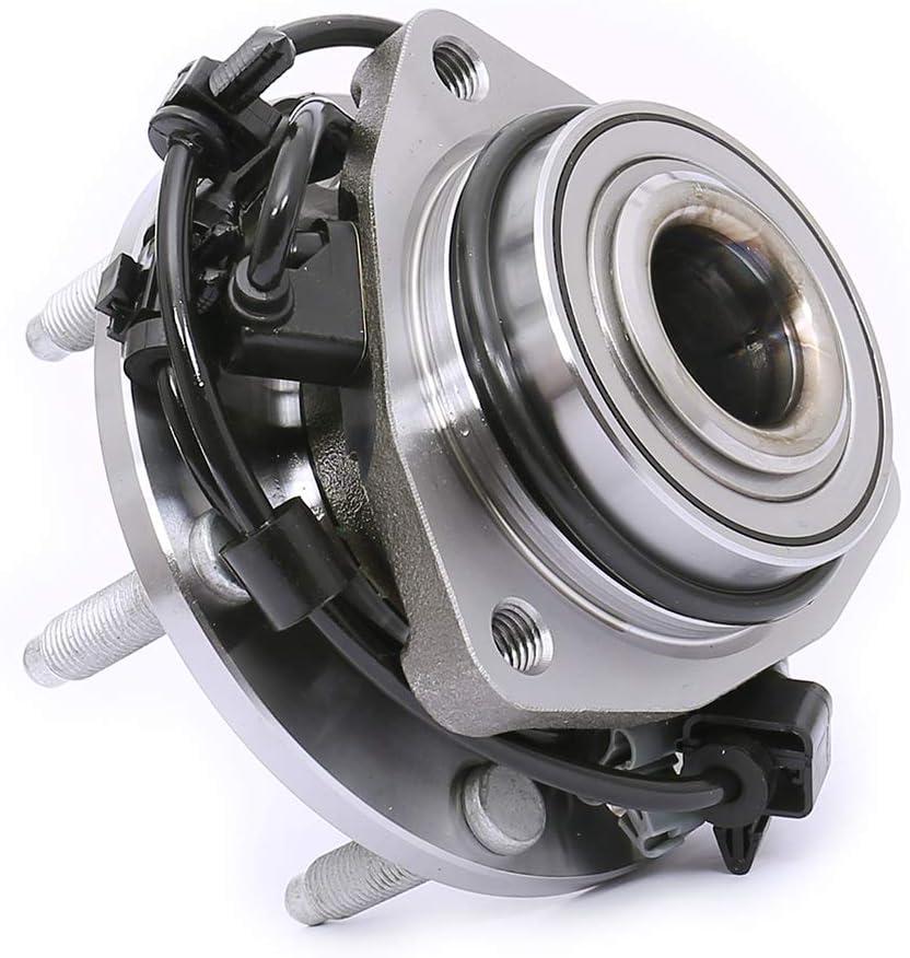 Front Wheel Bearing and Hub Assembly Compatible With Buick Rainier Chevrolet SSR Trailblazer EXT GMC Envoy XL XUV Isuzu Ascender Olds Bravada Saab 9-7X Pair TUCAREST 513188 x2 6 Lug W//ABS