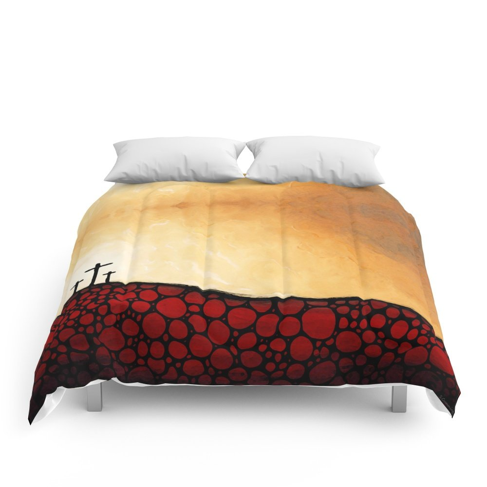Society6 Forgiven - Christian Art By Sharon Cummings Comforters King: 104'' x 88'' by Society6