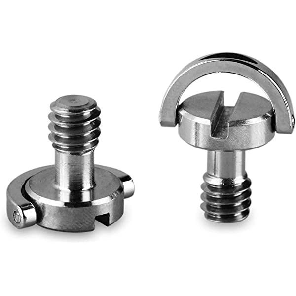 Pack of 2-828 SMALLRIG 1//4 to 1//4 Male Threaded Screw Adapter Double Head Stud for Camera Cage Monitor LED Microphone