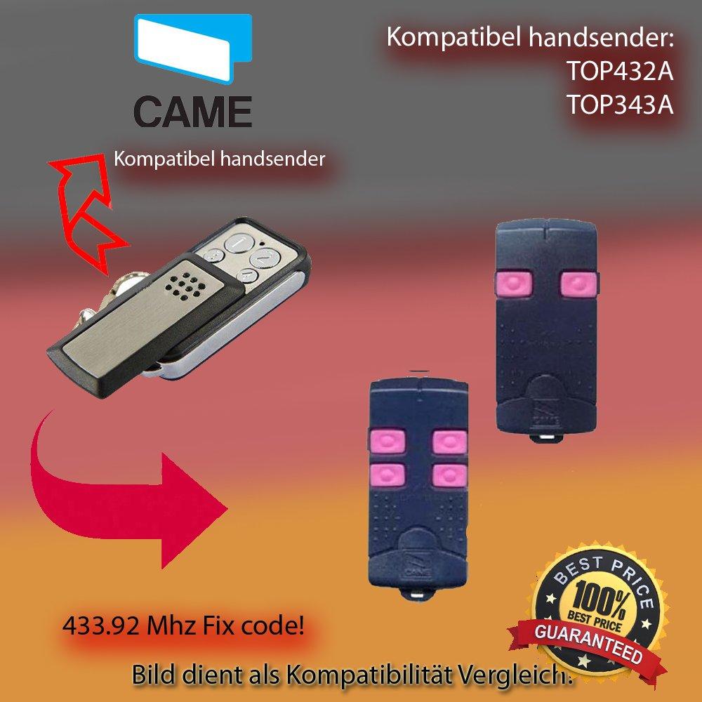 Transmisor Manual 433,92 MHz para accionamiento Came TOP432A / TOP343A