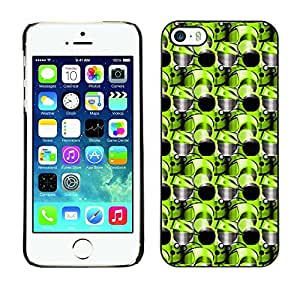 PatternViking PC Polycarbonate Aluminium Back Case Cover Apple iPhone 5 / 5S ( cool circles )