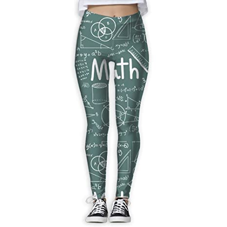 9e5171ec0527d Women's Girl Math Theory Mathematical Formula Equation High Waist Casual Leggings  Tights Yoga Pants Running Pants