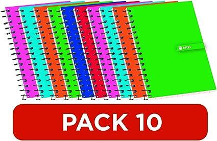 Cuadernos 16º(A7) Enri. Pack de 10 unidades. Tapa blanda ...