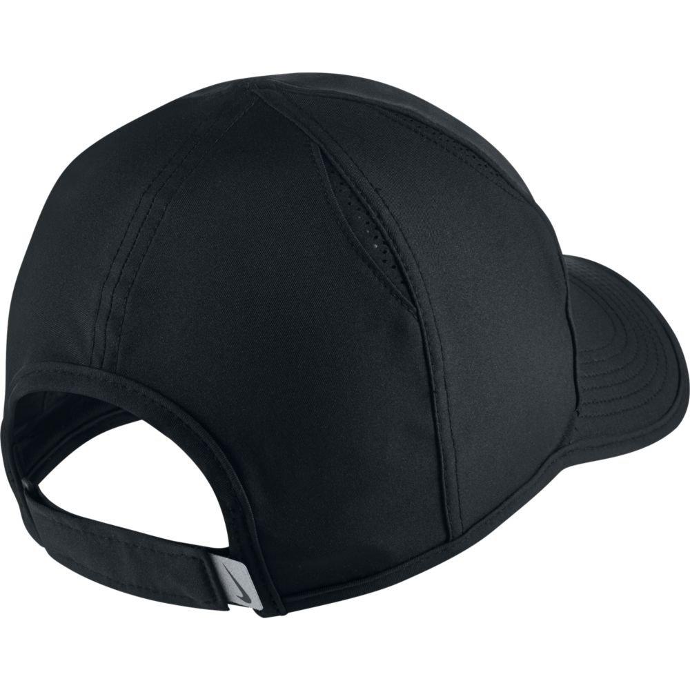 NIKE Unisex AeroBill Featherlight Cap, Black/Black/White, One Size by Nike (Image #2)