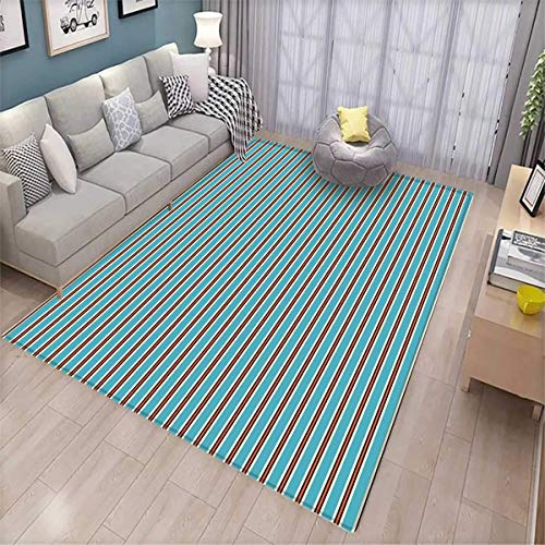 Geometric Girls Bedroom Rug Pale Colored Background with Ver