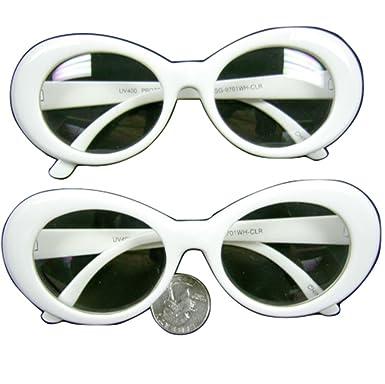 White Jackie O's Sunglasses Clear Lens xIXjqyk3c