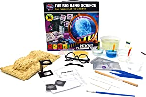 BIG BANG SCIENCE | Science Kit Chemistry Set for Kids | STEM Toys for Kids Age 8+ | Detective Training Edu Kit | Exploring Learning Toys for Boys and Girls | 14 Activities & 41 Pcs