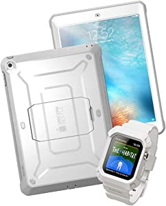 SupCase Unicorn Beetle iPad Bundle (White) - iPad 9.7 inch, AirPods & Apple Watch 4 44mm Case