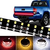 CoCsmart LED Tailgate Light Bar Triple Row, 60 Inch Tail Light Bar for Pickup Trailer SUV RV Van,Sequential Red Brake…