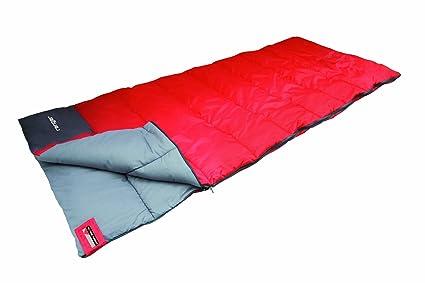 High Peak Ranger Saco de Dormir, Unisex, Rojo/Gris Oscuro, 180 x