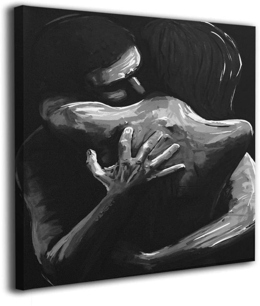 Nude Couple Naked Woman Passion Mature Canvas Wall Art