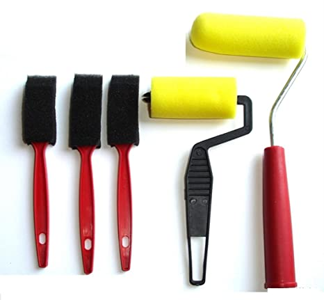 Set of 5 Foam Sponge Paint Rollers Art Craft Wall Painting Brush