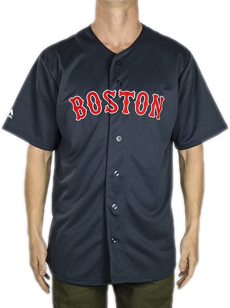 Camisa Majestic: MLB Replica Jersey Boston NV S : Amazon.es ...