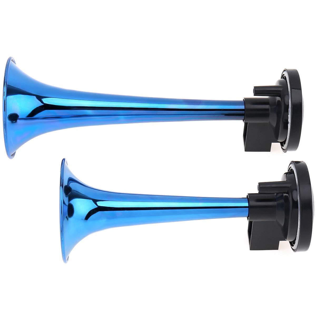TOOGOO 178Db Super Loud 12V Dual Tone Auto Car Air Claxon Horn High Output Compressor Set Trumpet For Motorcycle Boat Truck