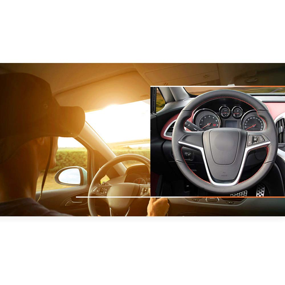 HCDSWSN Schwarzes Kunstleder-Lenkradbezug f/ür Opel Mokka 2013-2016 Opel Insignia 2009-2013 Astra J 2010-2015 Meriva