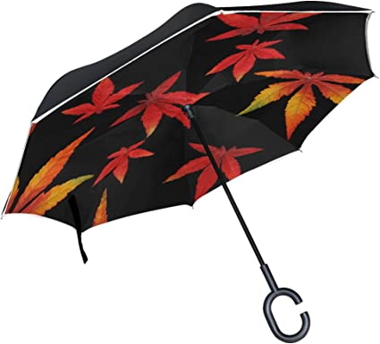 Double Layer Inverted Inverted Umbrella Is Light And Sturdy Autumn Mood Flat Vector Seamless Pattern Reverse Umbrella And Windproof Umbrella Edge Nig