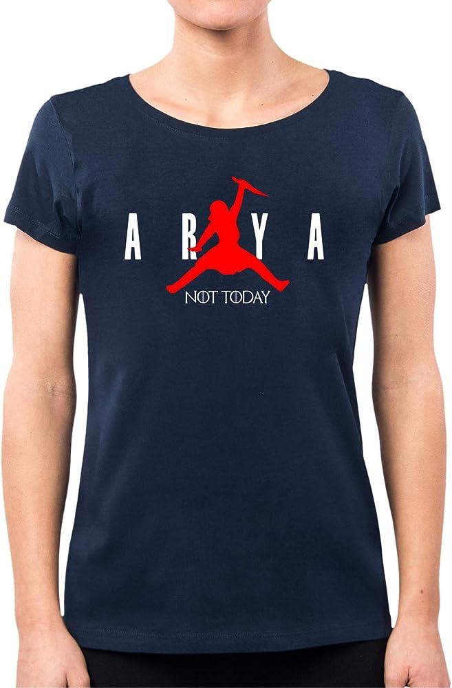 PacDesign - Camiseta para mujer, diseño de Juego de Tronos, Arya Stark Not Today Got 8, Serie TV PD1575A navy L: Amazon.es: Ropa y accesorios