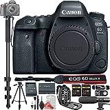 Canon EOS 6D Mark II Digital SLR Camera Body + PRO DigitalAndMore Value Bundle (Monopod + Bag + 2 x 64GB Memory + Tripod + Microphone + Remote + Card Reader + MORE!)