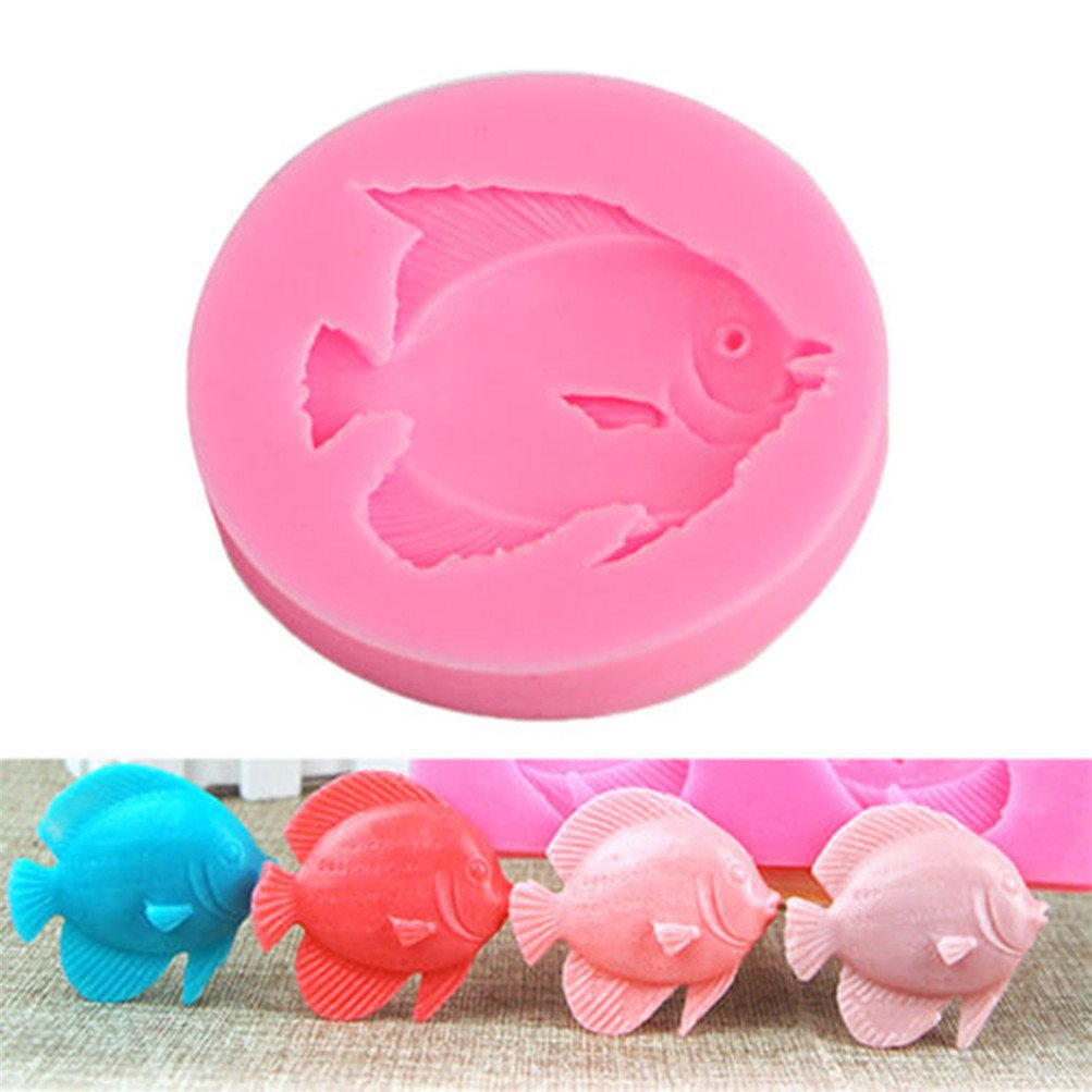 Flybloom Silicone Moulds Fish Shape DIY Fondant Chocolate Sugarcraft Cookie Mold Cake Decor Baking Tools HeShengFactory