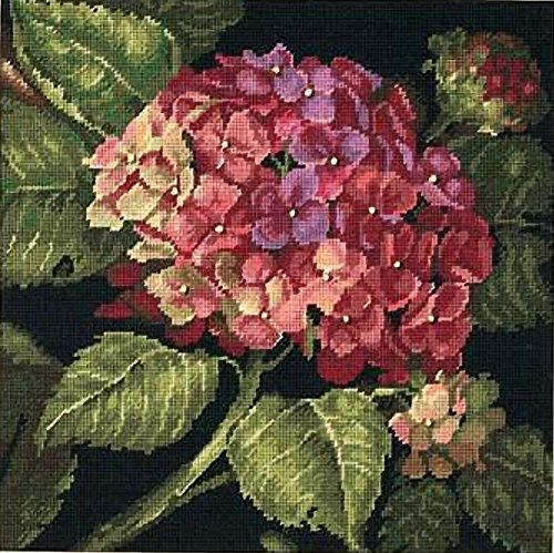 Dimensions Needlecrafts Needlepoint by Kathryn White, Hydrangea Bloom Dimensions Needlepoint Kits