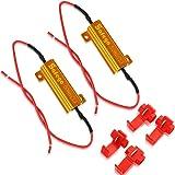 Safego 2x 50W 6-ohm Load Resistors for LED Turn Signal Lights Hyper Flash Error Fix