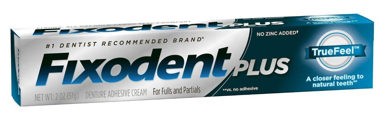 Fixodent Plus Truefeel Denture Adhesive Cream 2 Oz (3 Pack)