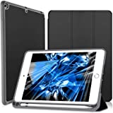 Wonzir iPad Mini 5 (2019) Case with Built-in Apple Pencil Holder Ultra Lightweight Standing Protective Cover with Auto Wake/Sleep for Apple iPad 7.9 Inch(2019) Tablet (Black Mini 5 (2019))