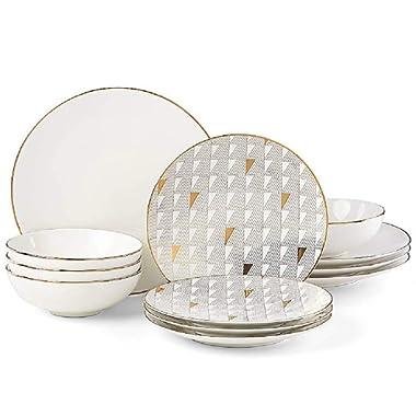 Lenox Trianna White 12 piece Dinnerware Set